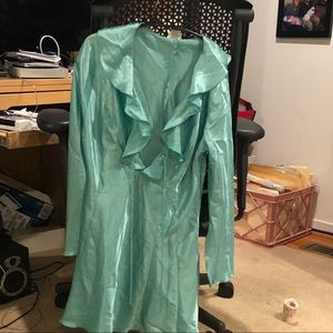 Fredrick's of Hollywood mint green gown